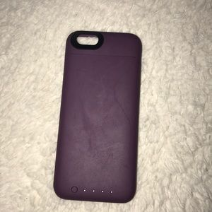 iphone 6 purple mophie case great condition